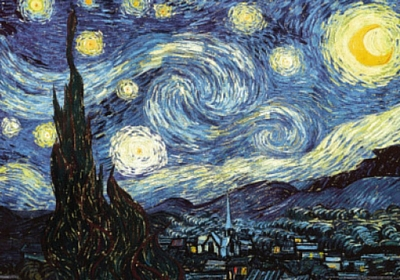 The Starry Night, Vincent van Gogh, MoMA