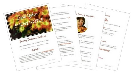 Poetry Teatime Podcast Show Notes - Jane Yolen