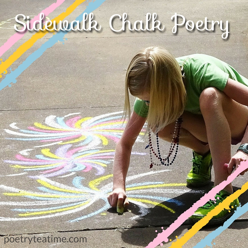 Sidewalk Chalk Poetry