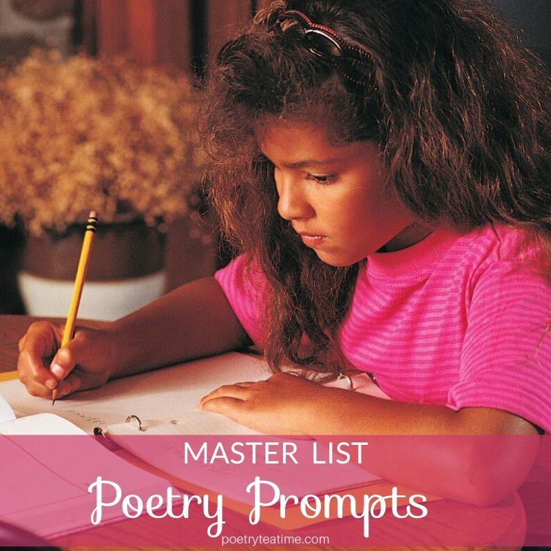 Poetry Prompts Master List