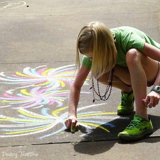 Sidewalk Chalk Poetry